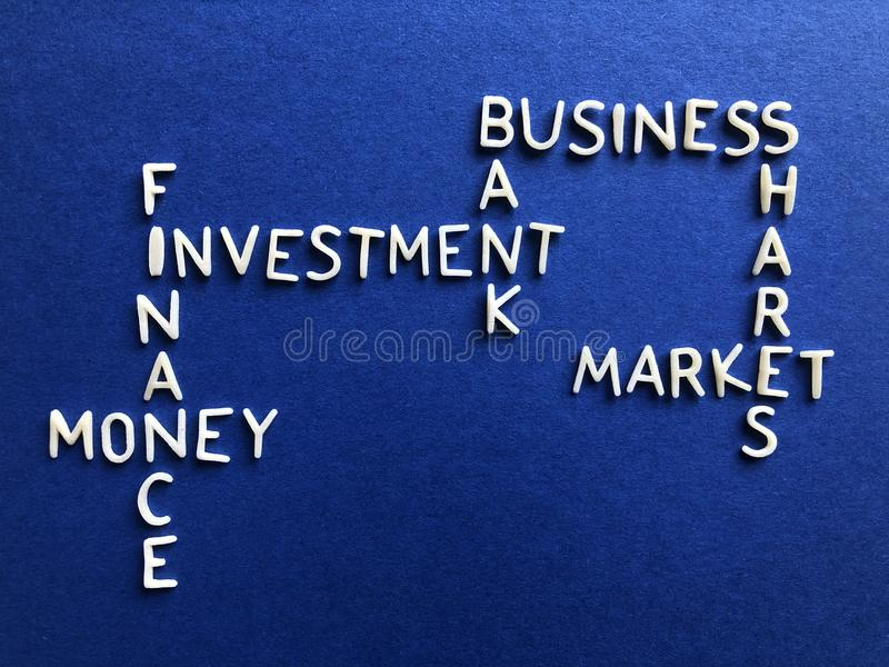 Business, banking and finance, creative concept stock image