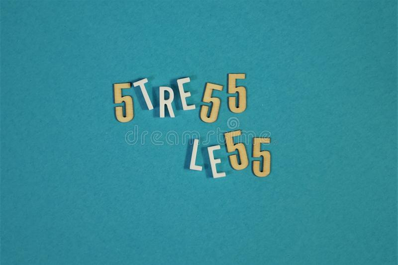 Words `Stress Less` with numbers royalty free stock photos