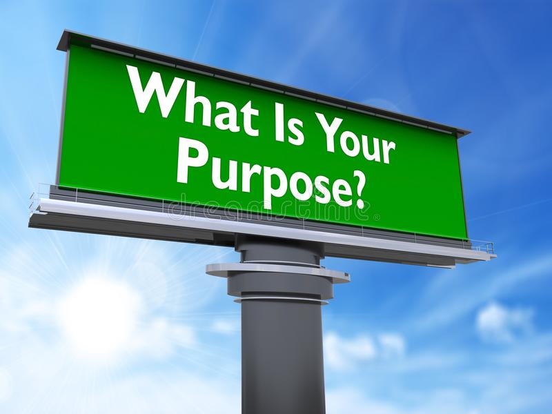 What is your purpose vector illustration