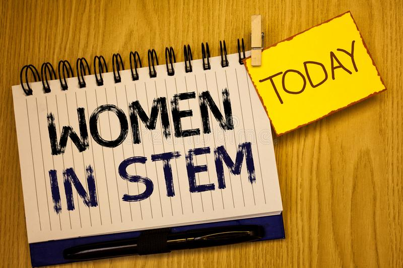 Word writing text Women In Stem. Business concept for Science Technology Engineering Mathematics Scientist Research. Words writing texts Women In Stem. Business royalty free stock photos