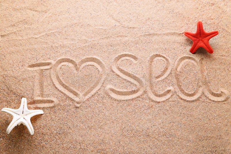 Beach sand with starfish royalty free stock image