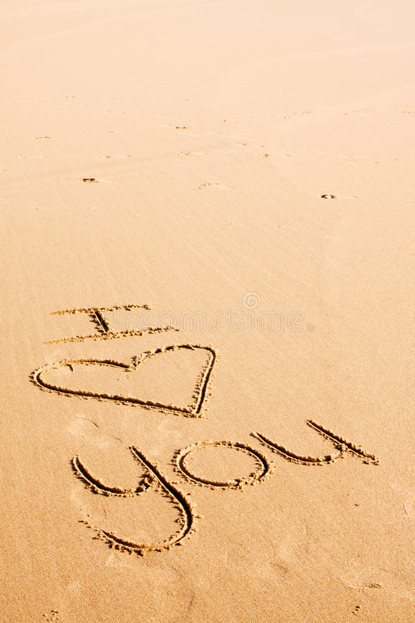 Download Words written in the sand stock image. Image of symbol - 6550439