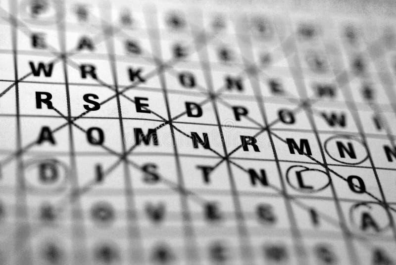 wordsearch arkivfoto