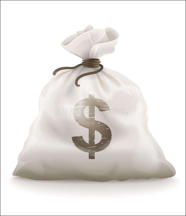 Worek z pieniądze royalty ilustracja