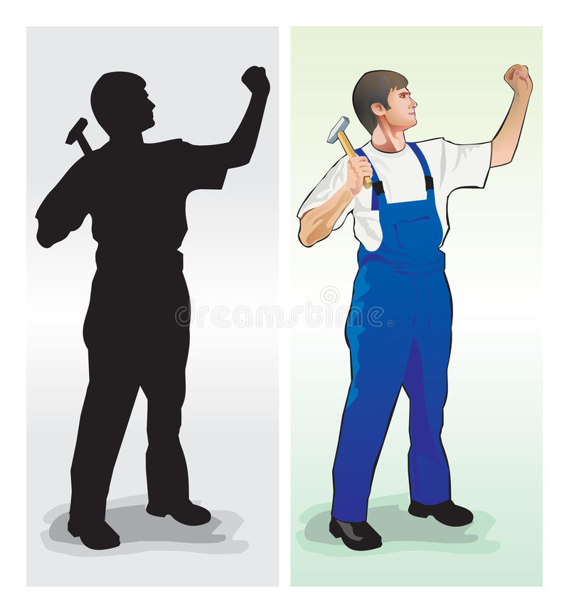 Download Work stock vector. Illustration of worker, isolated, color - 12337662