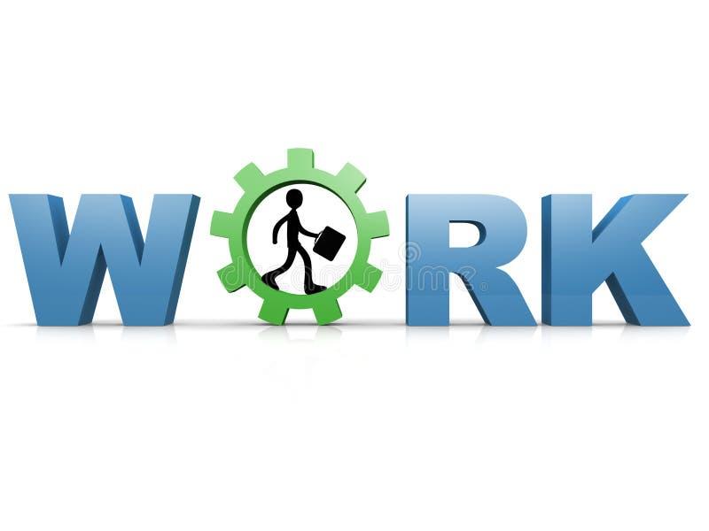 Work royalty free illustration