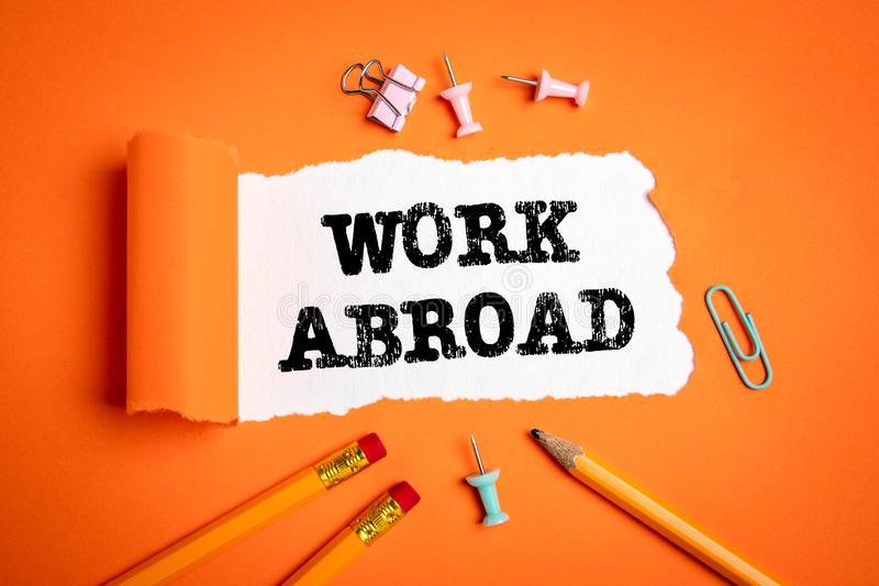 Work Abroad. Career opportunities, new life, success and home stock photos