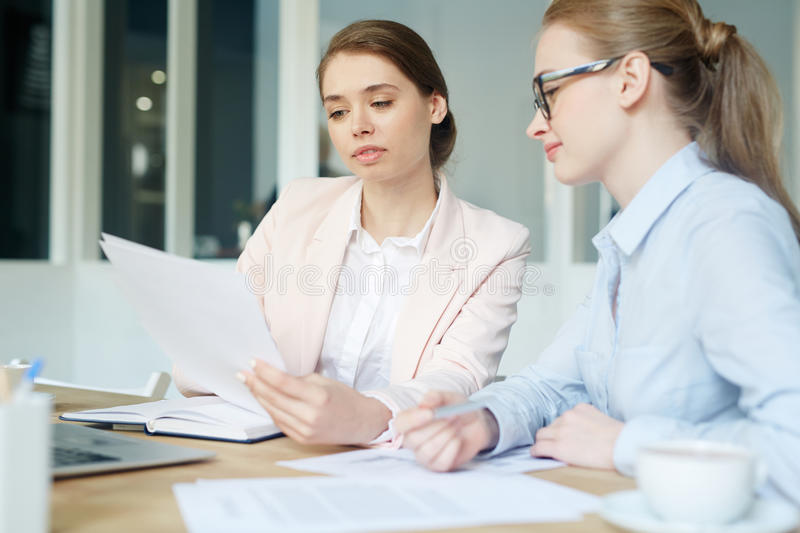 Work of accountants stock images