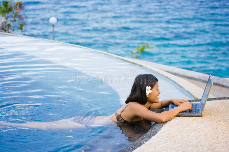 Download Work anywhere in paradise stock photo. Image of business - 4468676