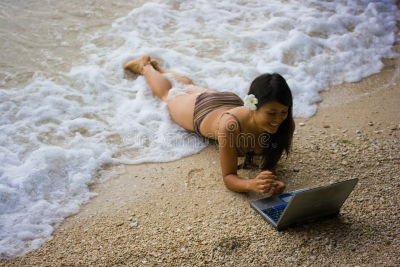 Download Work Anywhere In Paradise Stock Photo - Image: 4469290
