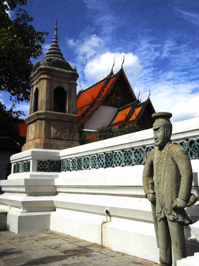 Work of art in Wat Suthat royalty free stock image