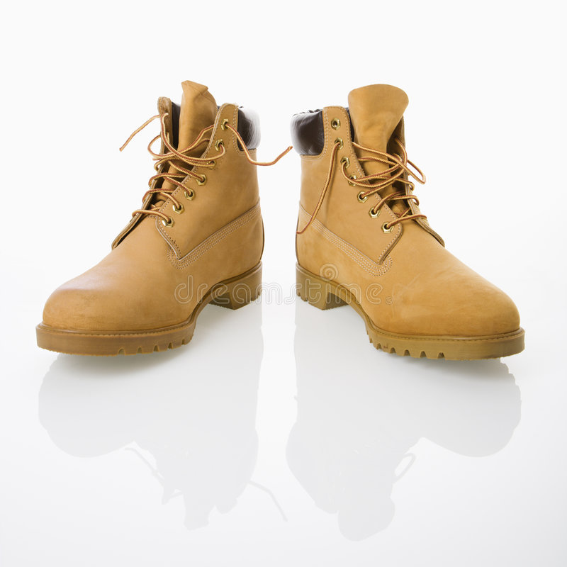 Work boots. stock photos