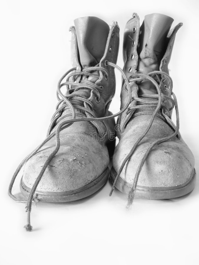 Download Work boots stock image. Image of exhausted, leatherboots - 577817