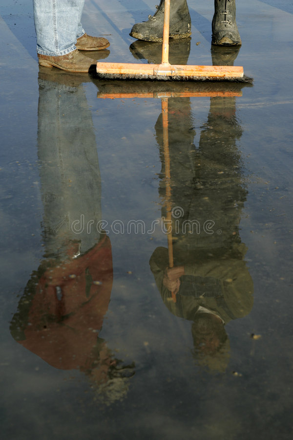 Free Work Boots And Reflections Royalty Free Stock Photography - 277557