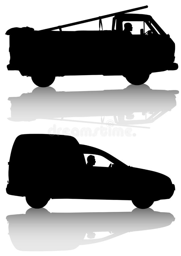 Download Work cars stock vector. Illustration of mode, silhouette - 13988976