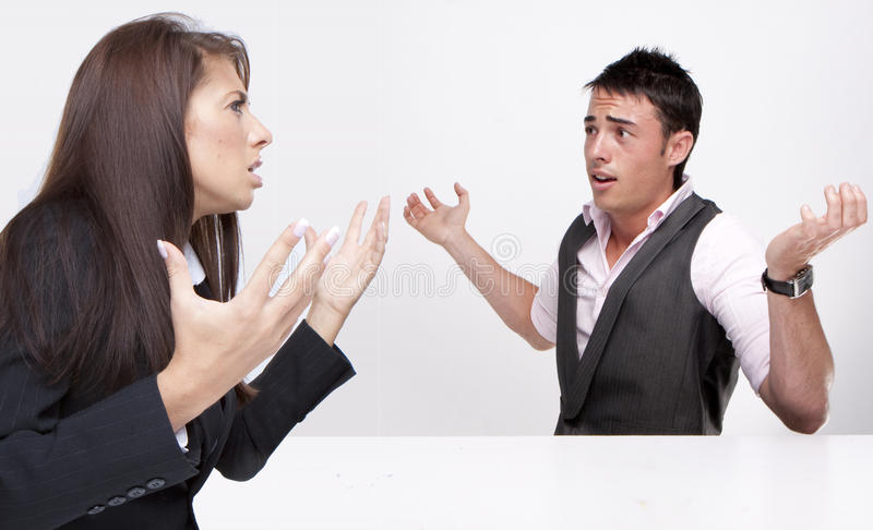 Work Colleagues arguing royalty free stock photos