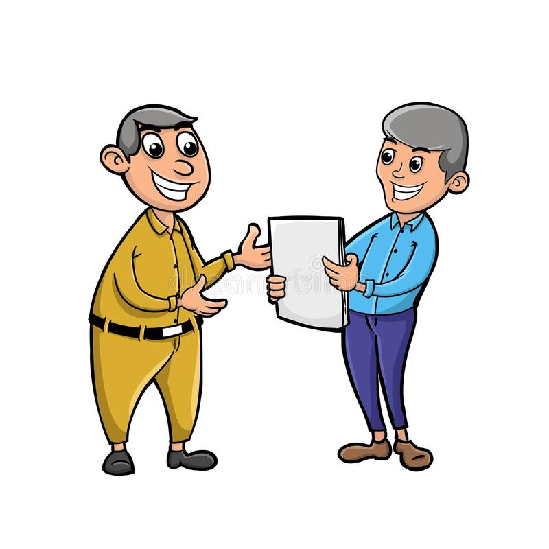 Work consultation with businessman royalty free stock photo