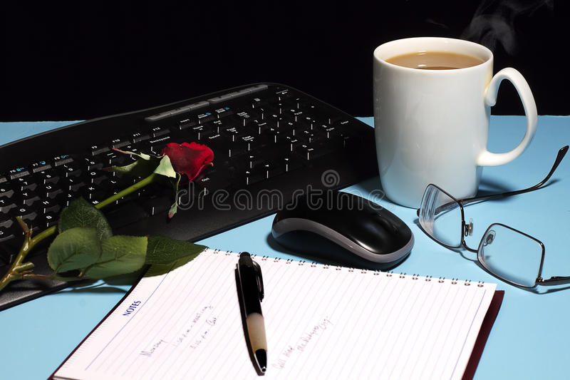 Download Work Desk stock photo. Image of glasses, coffee, note - 24615286