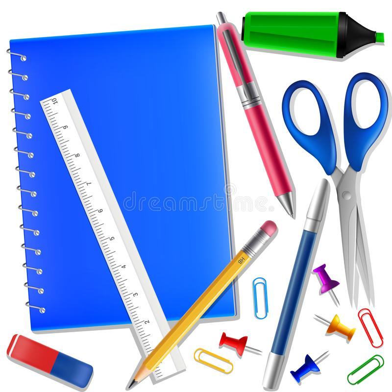 Free Work Draw Sketch Stationary Set Illustration Stock Photo - 128661130