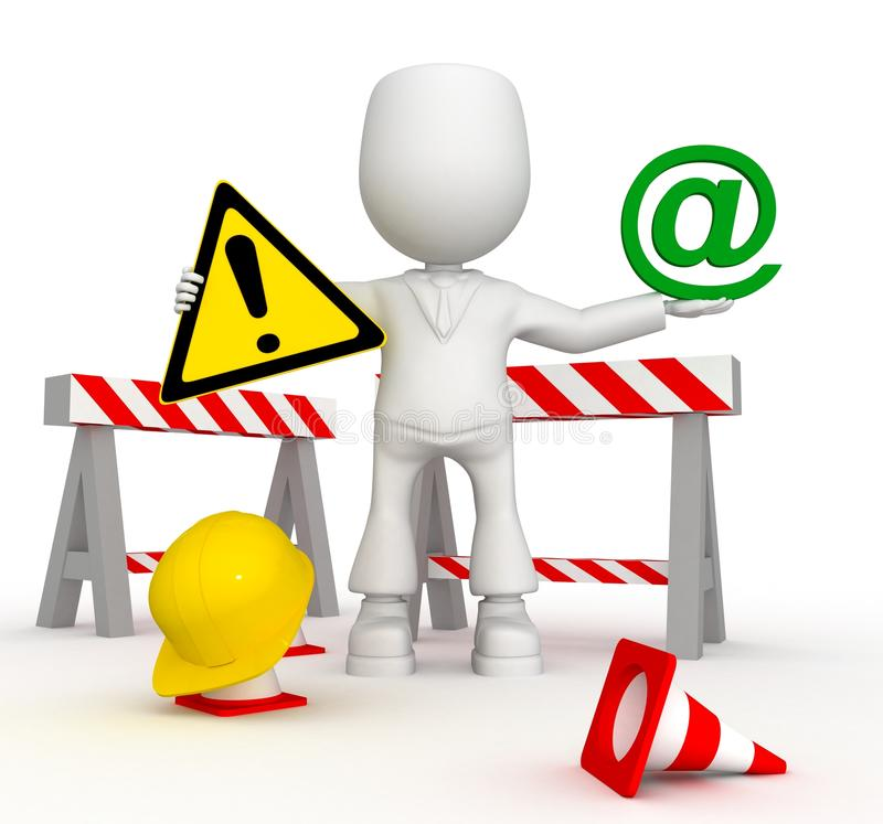 Work in email zone royalty free stock photo