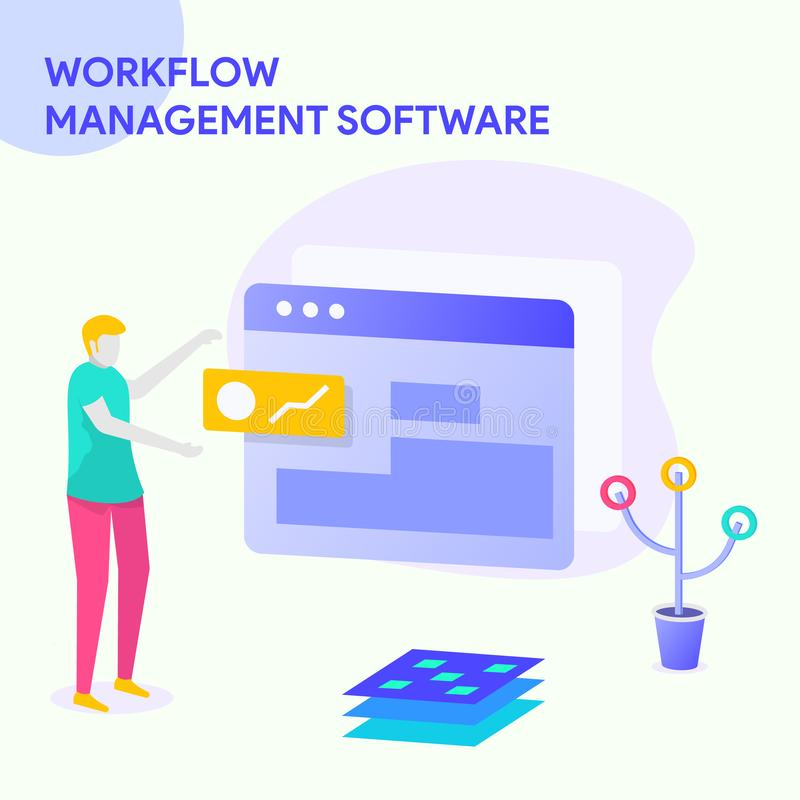 WORK FLOW MANAGEMENT SOFTWARE royalty free illustration