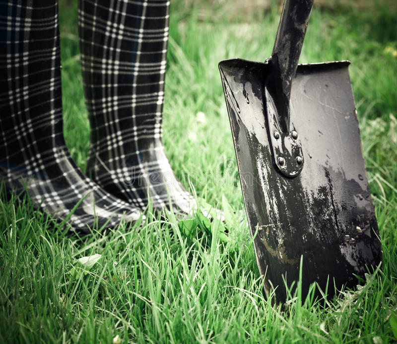 Download Work in garden stock photo. Image of boots, working, environment - 22929324