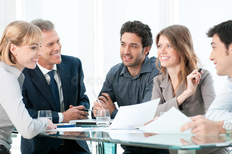 Work in group royalty free stock image