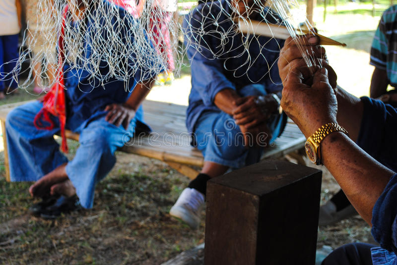 Work Handicraft in the countryside. royalty free stock photos