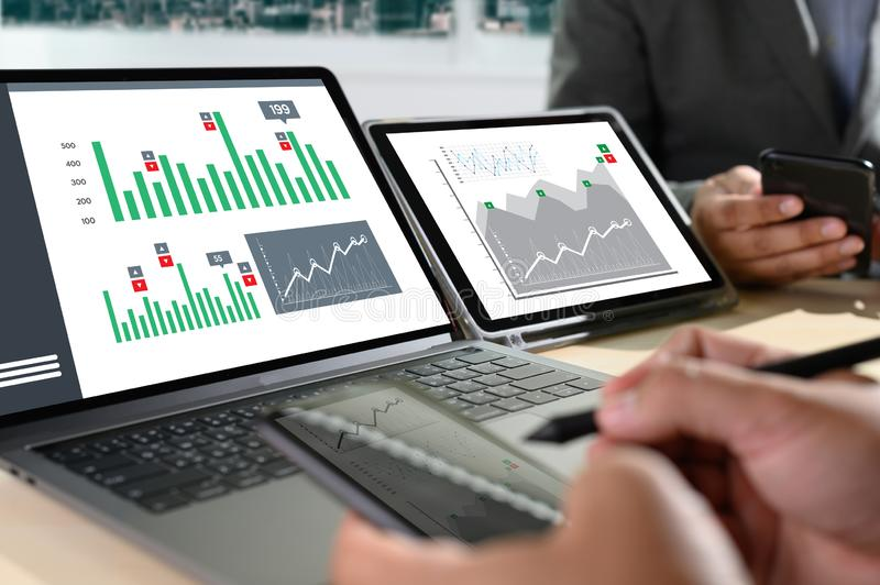 Work hard Data Analytics Statistics Information Business Technology. D royalty free stock image