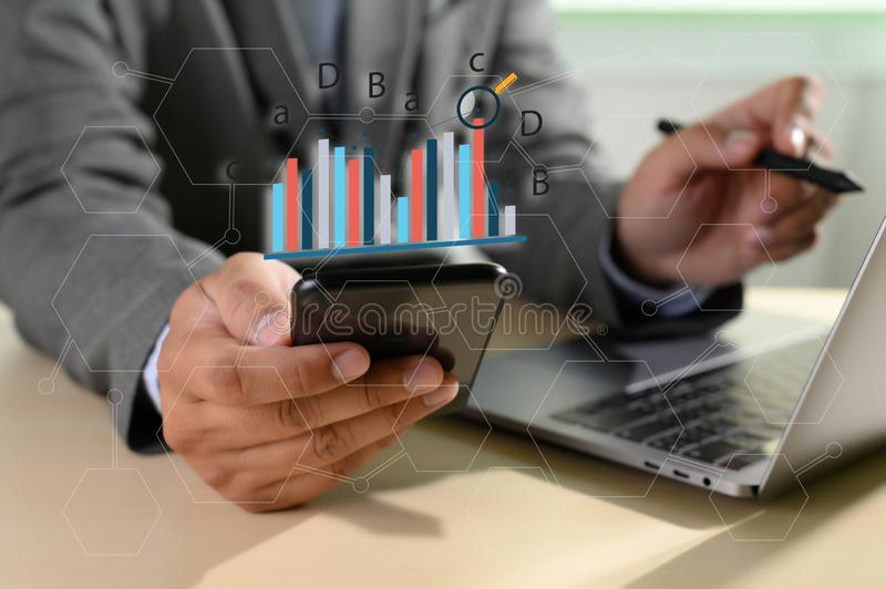 Work hard Data Analytics Statistics Information Business Technology. D royalty free stock images