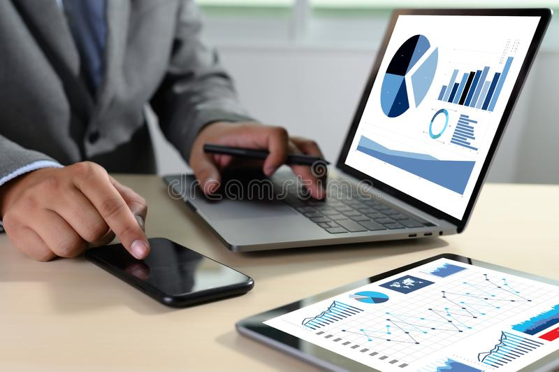 Work hard Data Analytics Statistics Information Business Technology. D royalty free stock photos