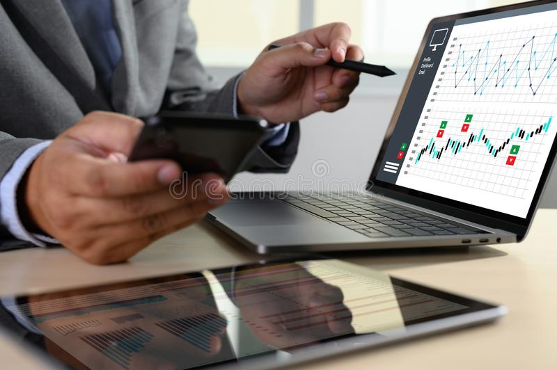 Work hard Data Analytics Statistics Information Business Technology. C stock images