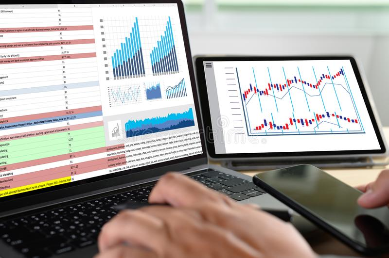 Work hard Data Analytics Statistics Information Business Technology. S royalty free stock photos