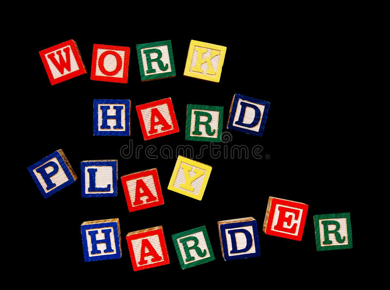 Download Work hard play harder stock image. Image of text, colorful - 18324067