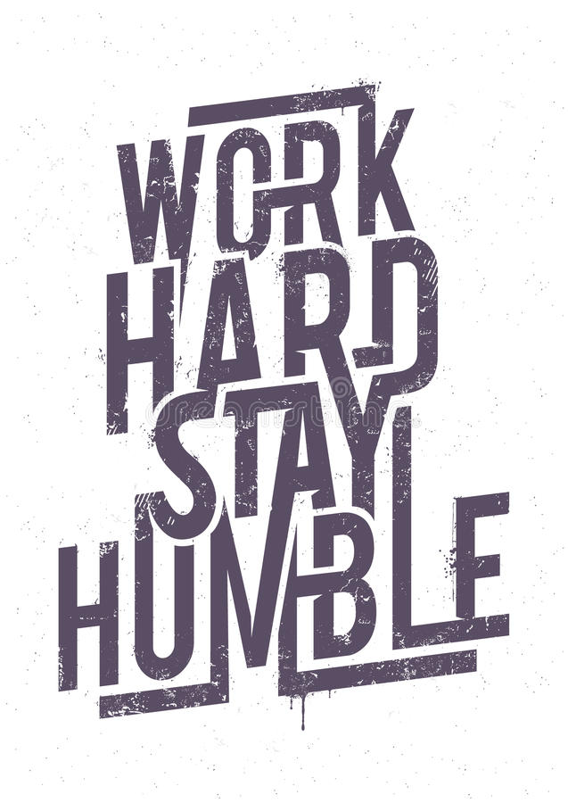Free Work Hard Typography Stock Images - 54529704