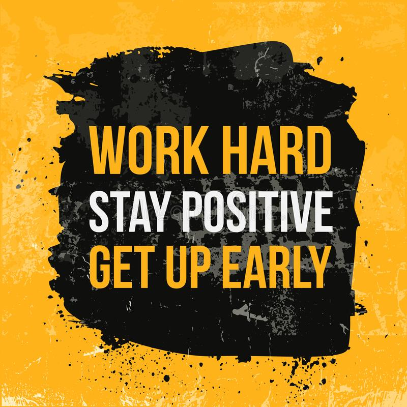 Work hard typography. Grunge poster. Typographic motivational card about working hard. Typography for good life message. Print, wall vector illustration