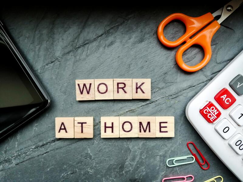 Work at home royalty free stock photography
