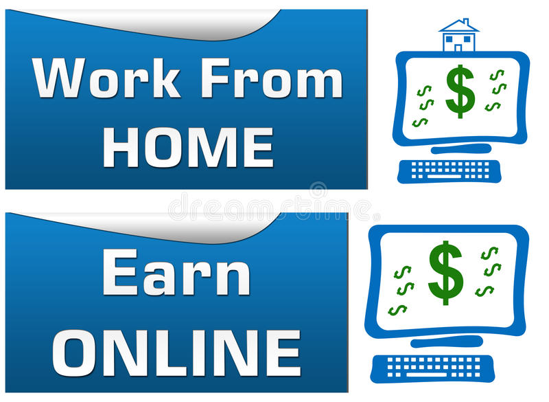 Work from home earn online stock illustration image 44243191 for Online web designing jobs work from home