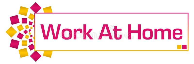 Work At Home Pink Orange Circular Bar vector illustration