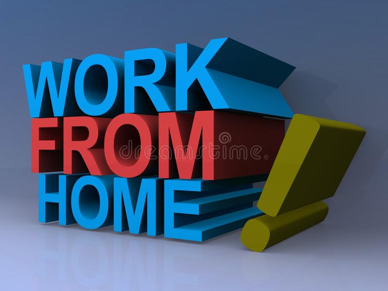 Work from home sign stock illustration