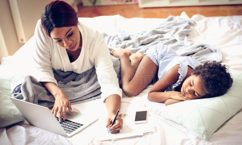 Work from home. stock photo