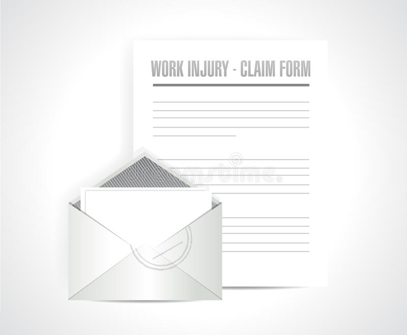 Work injury claim form documents paper vector illustration