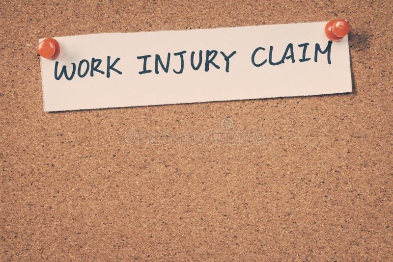 Work injury claim stock image