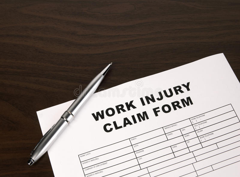 Work Injury Form Royalty Free Stock Photo