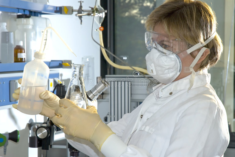 Work in laboratory royalty free stock photos