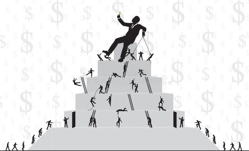 Work ladder stock illustration