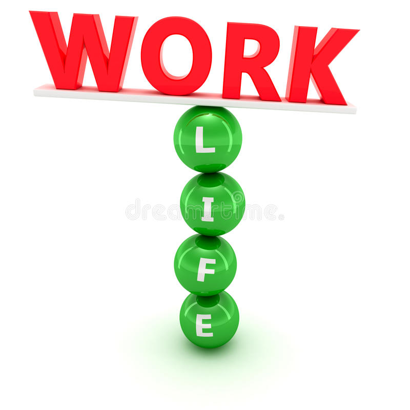 Work and life balance royalty free illustration