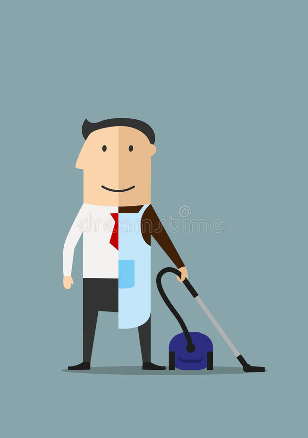 Work and life balance business concept stock illustration