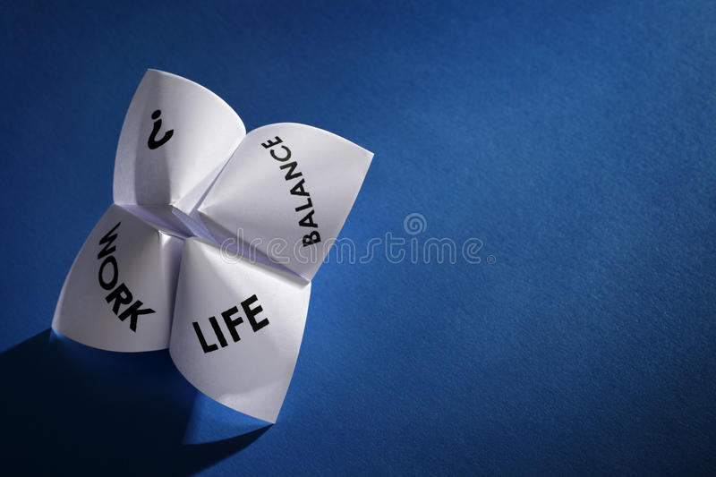 Work life balance choices royalty free stock images