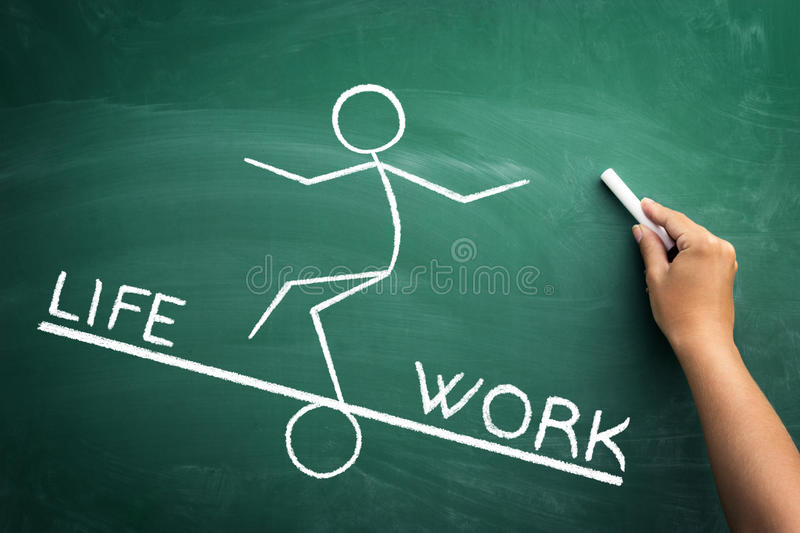 Work and life balance concept stock photo